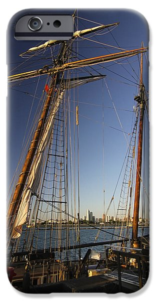 Tall Ship iPhone Cases - Docked Tall ship iPhone Case by Sven Brogren