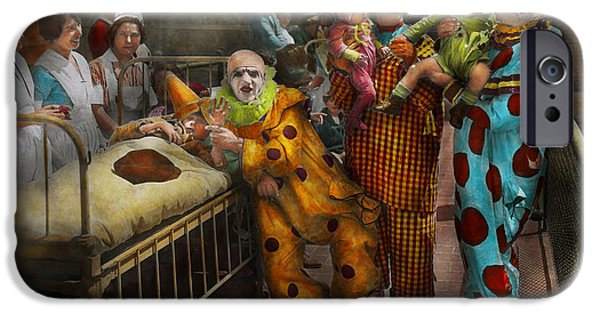 Creepy iPhone Cases - Doctor - Fear of clowns 1923 iPhone Case by Mike Savad
