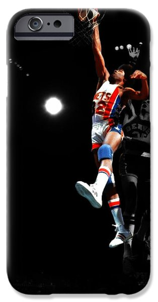 Dr. J iPhone Cases - Doctor J Over the Top iPhone Case by Brian Reaves