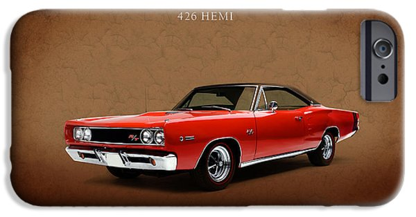 Hemi iPhone Cases - Dodge Coronet 426 Hemi iPhone Case by Mark Rogan