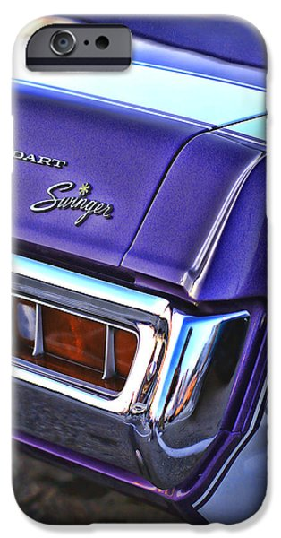 440 iPhone Cases - Dodge Dart Swinger iPhone Case by Gordon Dean II
