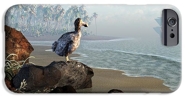 Fauna iPhone Cases - Dodo Afternoon iPhone Case by Daniel Eskridge