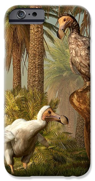 Dodo Hide N Seek iPhone Case by Daniel Eskridge
