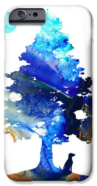Contemplation iPhone Cases - Dog Art - Contemplation - By Sharon Cummings iPhone Case by Sharon Cummings