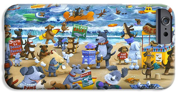 Recently Sold -  - Sea iPhone Cases - Dog Beach iPhone Case by Peter Adderley