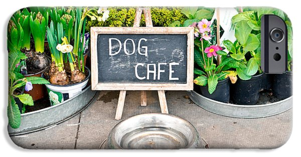 Stainless Steel iPhone Cases - Dog cafe iPhone Case by Tom Gowanlock
