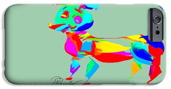 Puppies Digital Art iPhone Cases - Dog Days IV iPhone Case by Patricia Presseller