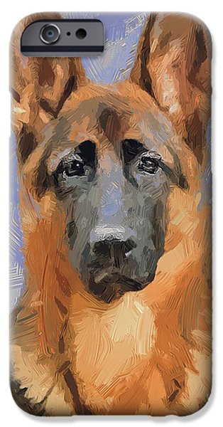 Dogs iPhone Cases - Dog Freedom iPhone Case by Yury Malkov