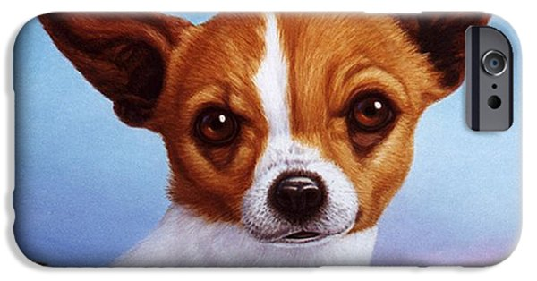 Dogs iPhone Cases - Dog-Nature 3 iPhone Case by James W Johnson