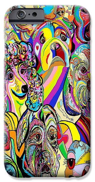 Dogs ... Dogs ... DOGS iPhone Case by Eloise Schneider