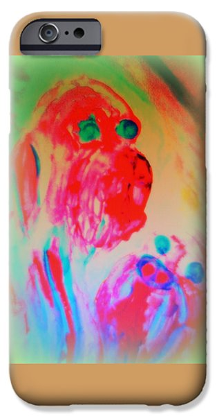Component Paintings iPhone Cases - Dogs B  iPhone Case by Hilde Widerberg