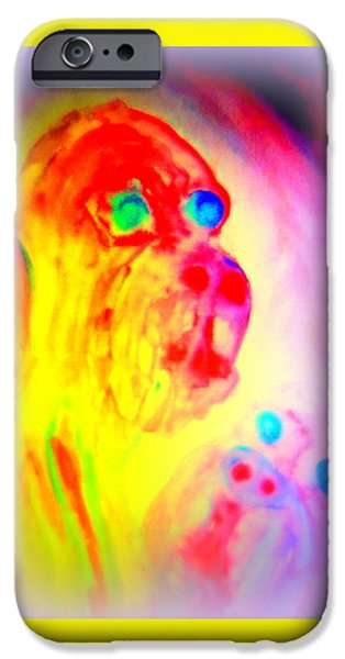 Component Paintings iPhone Cases - Dogs D  iPhone Case by Hilde Widerberg