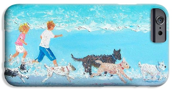 Dogs iPhone Cases - Dogs Day Out iPhone Case by Jan Matson