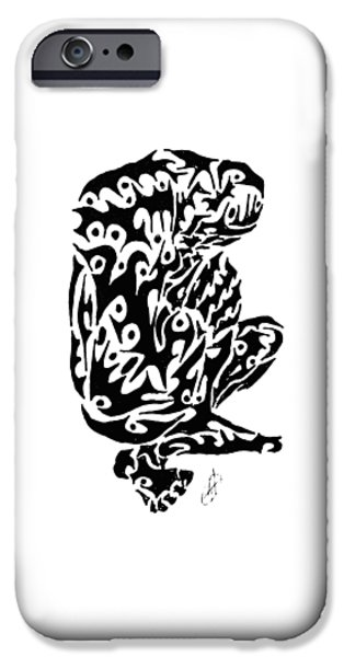 Abstract Digital Drawings iPhone Cases - Doh iPhone Case by AR Teeter