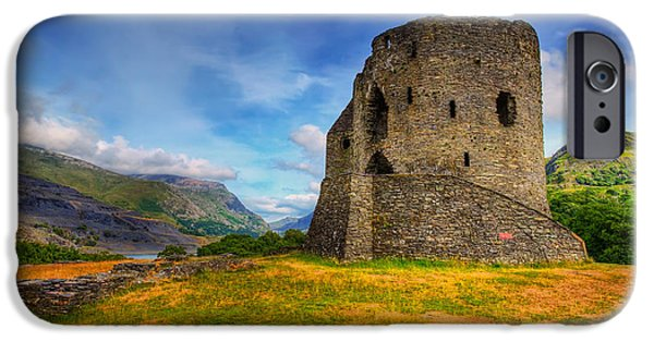 Edwardian iPhone Cases - Dolbadarn Castle  iPhone Case by Adrian Evans