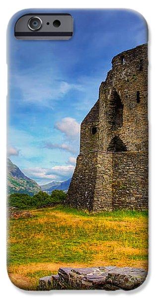 Dolbadarn Castle  iPhone Case by Adrian Evans
