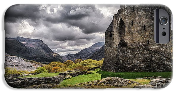 Ancient Ruins iPhone Cases - Dolbadarn Castle  iPhone Case by Amanda And Christopher Elwell