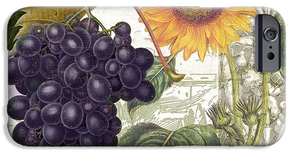 Purple Grapes iPhone Cases - Dolcetto I iPhone Case by Mindy Sommers