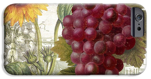 Purple Grapes iPhone Cases - Dolcetto II iPhone Case by Mindy Sommers
