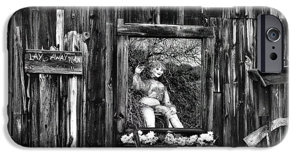 Old Barn iPhone Cases - Doll in the Window iPhone Case by Thomas  Todd