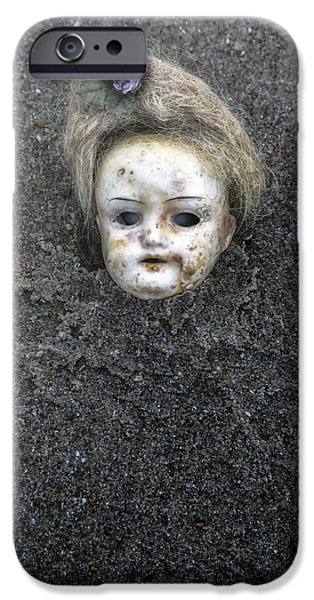 Dolls iPhone Cases - Dolls Head iPhone Case by Joana Kruse
