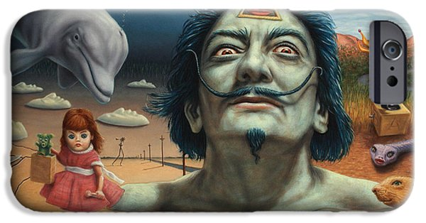 Prairie iPhone Cases - Dolly in Dali-Land iPhone Case by James W Johnson