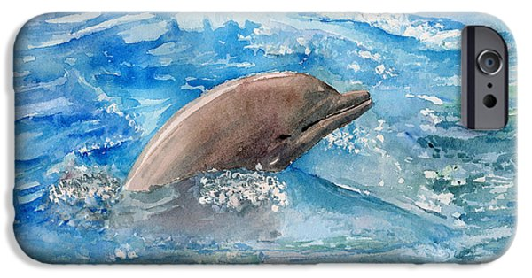 Porpoise iPhone Cases - Dolphin  iPhone Case by Arline Wagner