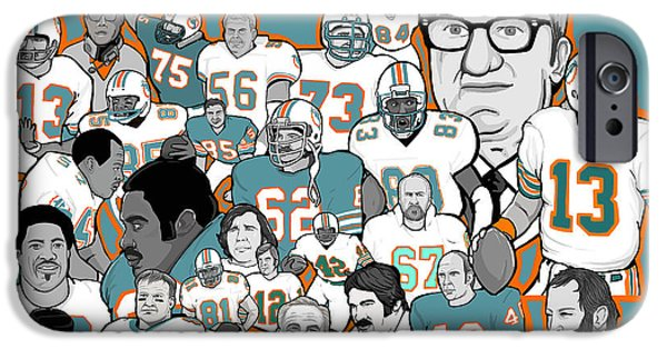 Dan Marino iPhone Cases - Dolphins Ring of Honor iPhone Case by Gary Niles