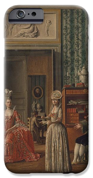 Domestic Scene iPhone Cases - Domestic Scene iPhone Case by Celestial Images