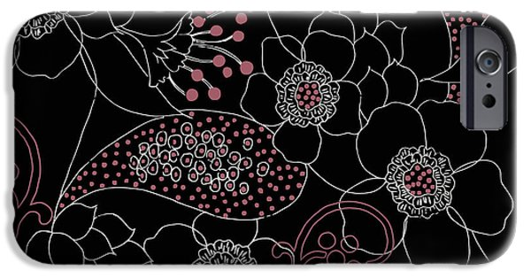 Fabric iPhone Cases - Dominique iPhone Case by Mindy Sommers