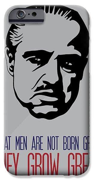 Vito Corleone iPhone Cases - Don Corleone Poster Art iPhone Case by Florian Rodarte