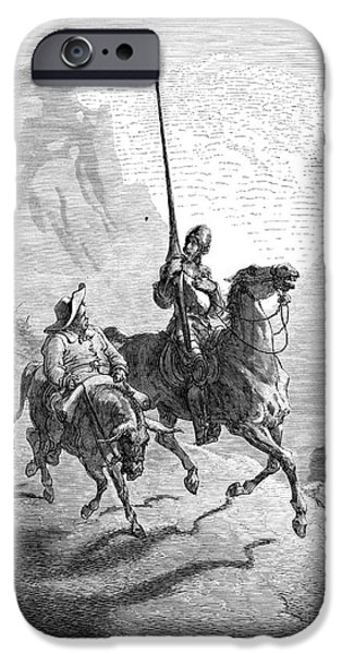 DON QUIXOTE AND SANCHO iPhone Case by Granger