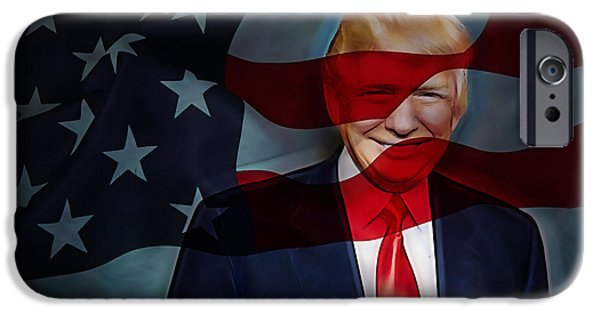 President iPhone Cases - Donald Trump Collection iPhone Case by Marvin Blaine