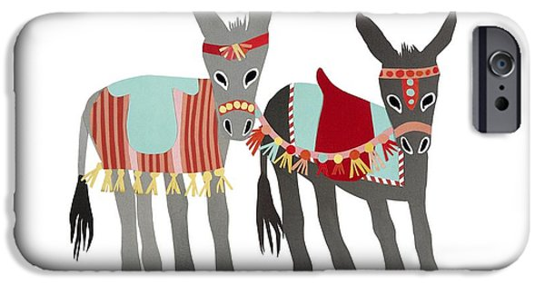 Reining iPhone Cases - Donkeys iPhone Case by Isoebl Barber