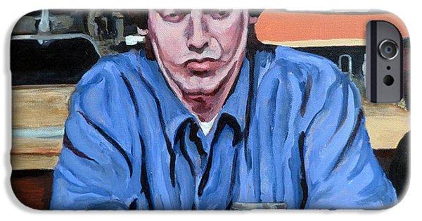 Dude Art iPhone Cases - Donny Kerabatsos iPhone Case by Tom Roderick