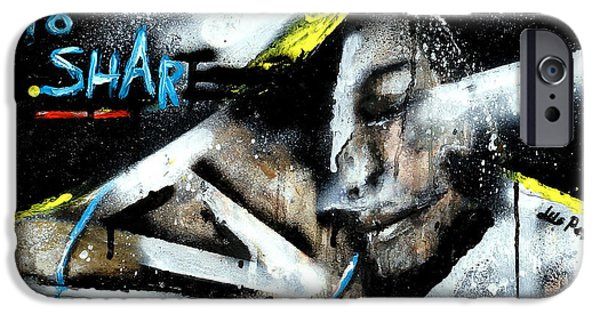 Paiting iPhone Cases - Dont be scared to share iPhone Case by Liliya Peter