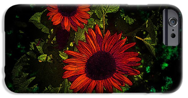 Surrealism Digital iPhone Cases - Dont Forget Me Rose Marie iPhone Case by Bobbie Barth