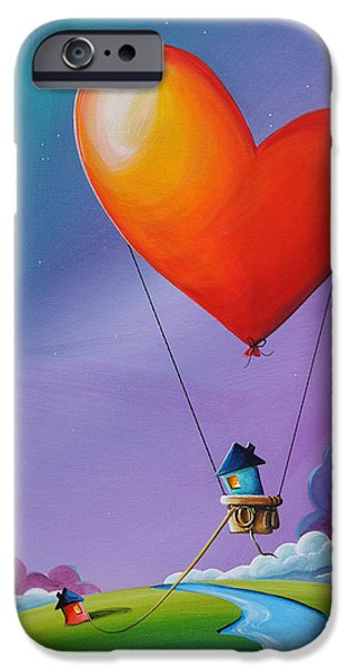 Hot Air Balloon iPhone Cases - Dont Let Love Slip Away iPhone Case by Cindy Thornton