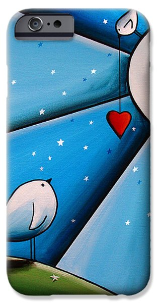Baby Bird iPhone Cases - Dont Let The Stars Get In Your Eyes iPhone Case by Cindy Thornton