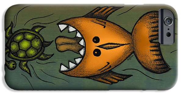 Fish Mixed Media iPhone Cases - Dont Look Back iPhone Case by Kelly Jade King