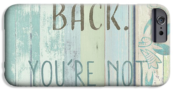 Beach Decor iPhone Cases - Dont Look Back  iPhone Case by Mindy Sommers