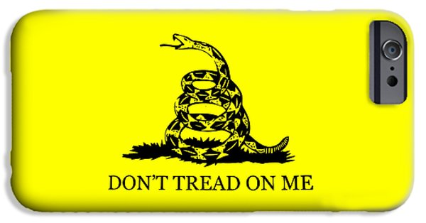 Recently Sold -  - Franklin iPhone Cases - Dont Tread On Me Flag iPhone Case by War Is Hell Store
