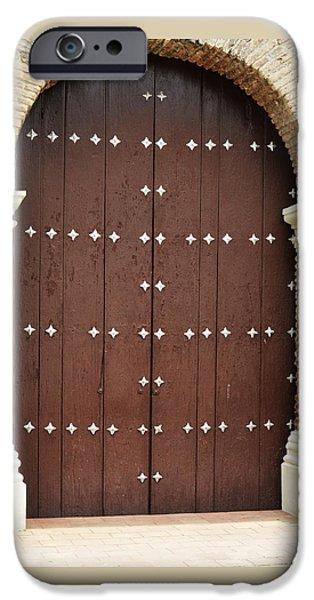 Old Barns Pyrography iPhone Cases - Door # 10  iPhone Case by Axko Color de paraiso