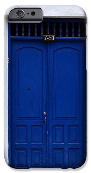 Old Barns Pyrography iPhone Cases - Door # 11 iPhone Case by Axko Color de paraiso