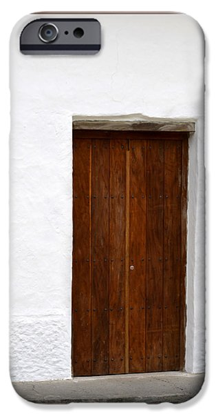 Old Barns Pyrography iPhone Cases - Door # 7 iPhone Case by Axko Color de paraiso