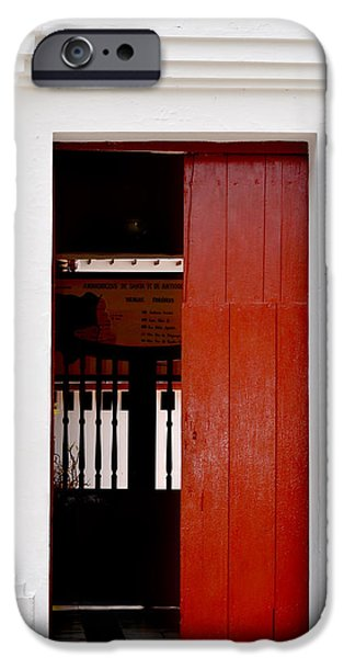 Old Barns Pyrography iPhone Cases - Door # 8  iPhone Case by Axko Color de paraiso