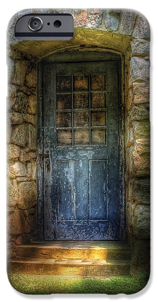 Door - A rather old door leading to somewhere iPhone Case by Mike Savad