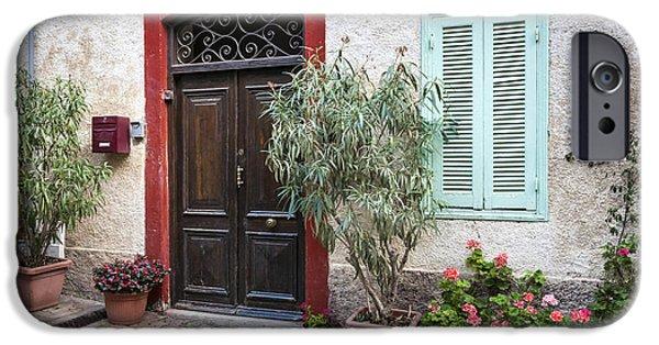 Facade iPhone Cases - Door and window iPhone Case by Elena Elisseeva