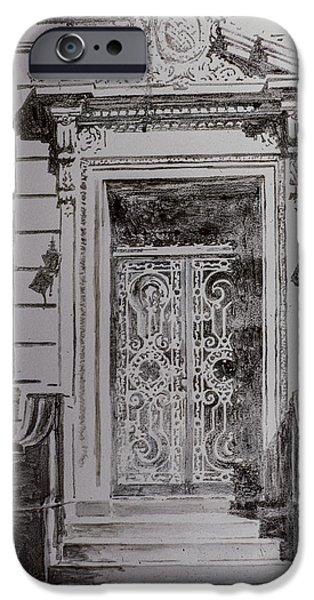 House Pastels iPhone Cases - Door iPhone Case by Anthony Butera