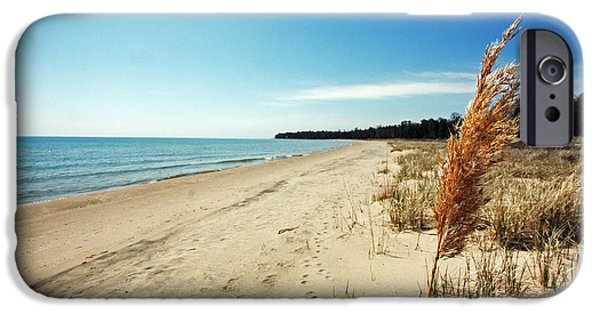 Chicago iPhone Cases - Door County Beach iPhone Case by Ty Helbach